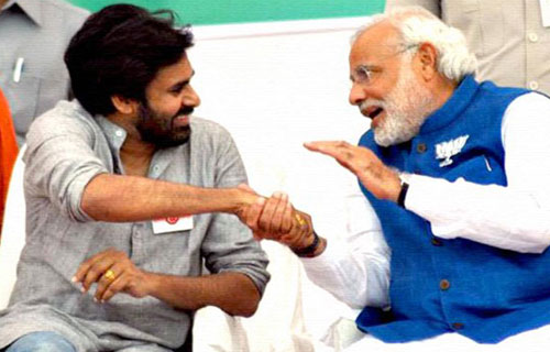 Jana Sena ties knot with BJP, Pawan to work under Modi