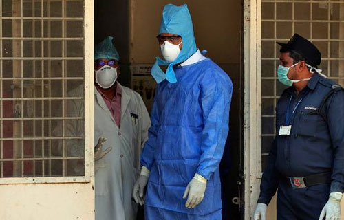 Coronavirus suspects joined Gandhi Hospital, Hyderabad