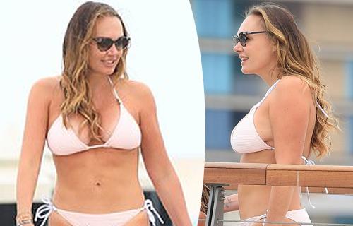 Tamara displays her jaw-dropping physique in sizzling white bikini
