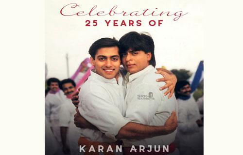 25 years of Shah Rukh Khan & Salman Khan's Karan Arjun