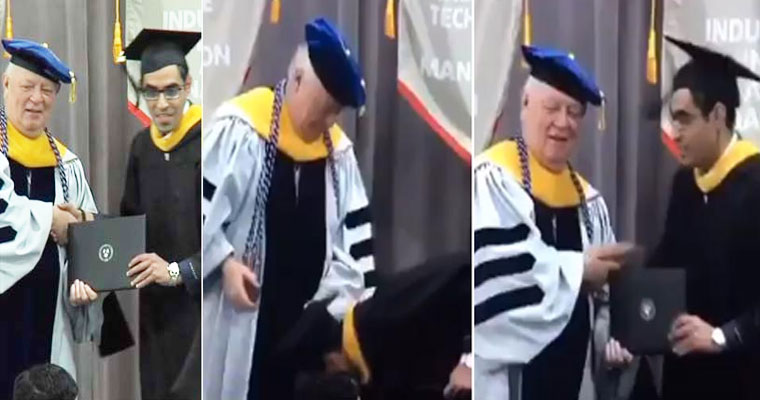 Watch: Indian Student touches American Dean's Feet